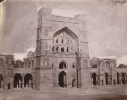 View of the main façade of the Atala Mosque, Jaunpur.